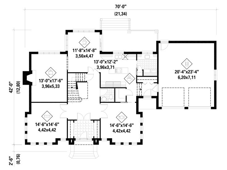 1st Floor Plan, 072H-0117