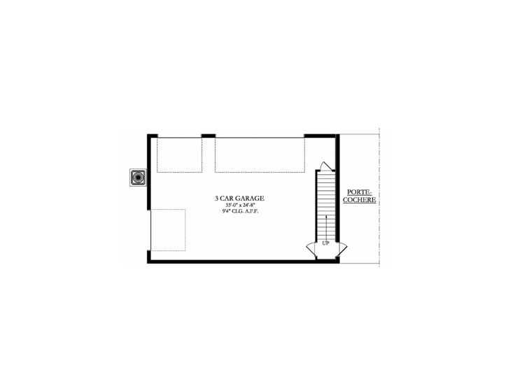 1st Floor Plan Garage