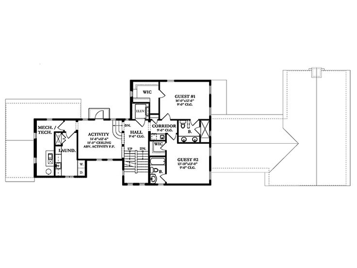 2nd Floor Plan, 064H-0092