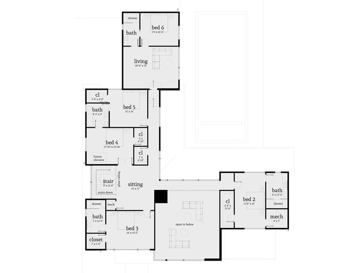 2nd Floor Plan, 052H-0106