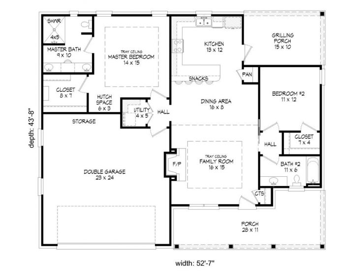 Empty nester house plans 2 bedroom empty nester home for Empty nest house plans
