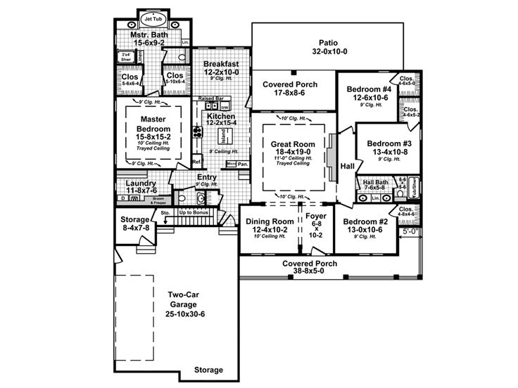 1st Floor Plan 001H-0221