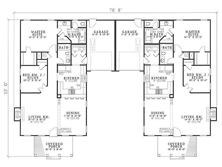Plan 025m 0014 find unique house plans home plans and Unique duplex plans