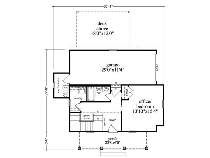1st Floor Plan, 053H-0090
