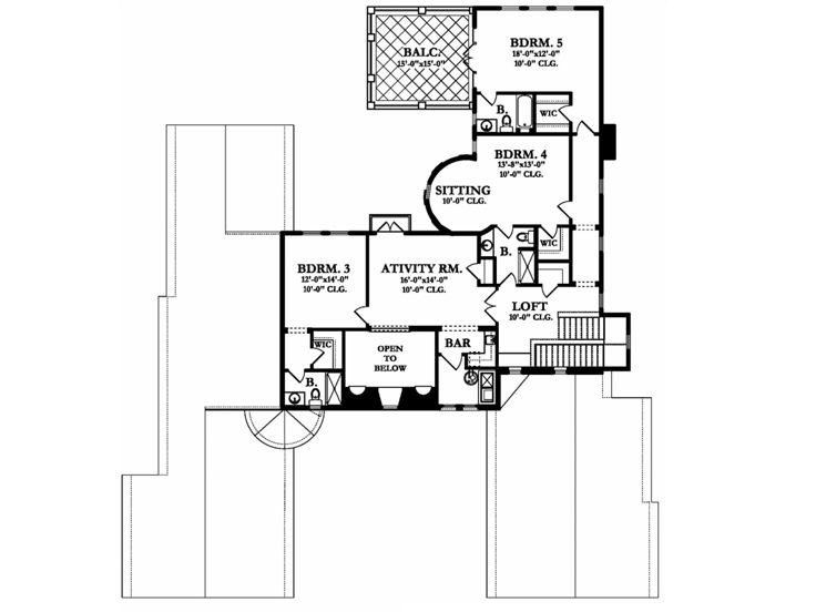 2nd Floor Plan, 064H-0090