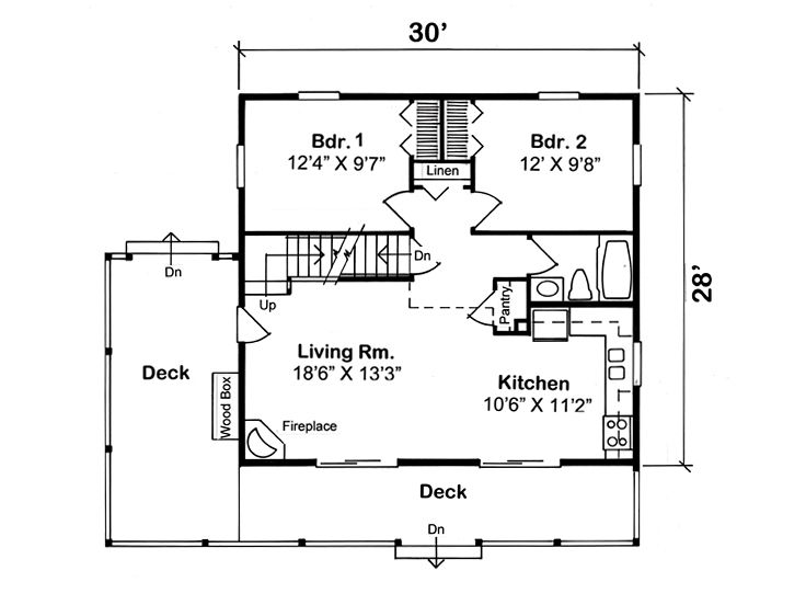Cabin House Plans Two Story Vacation Cabin With Wrap