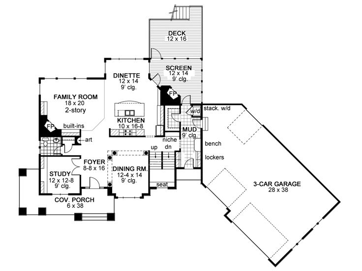 1st Floor Plan, 023H-0179