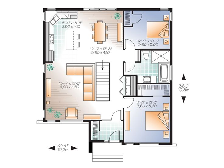 Empty Nester Home Plans Modern Empty Nester House Plan