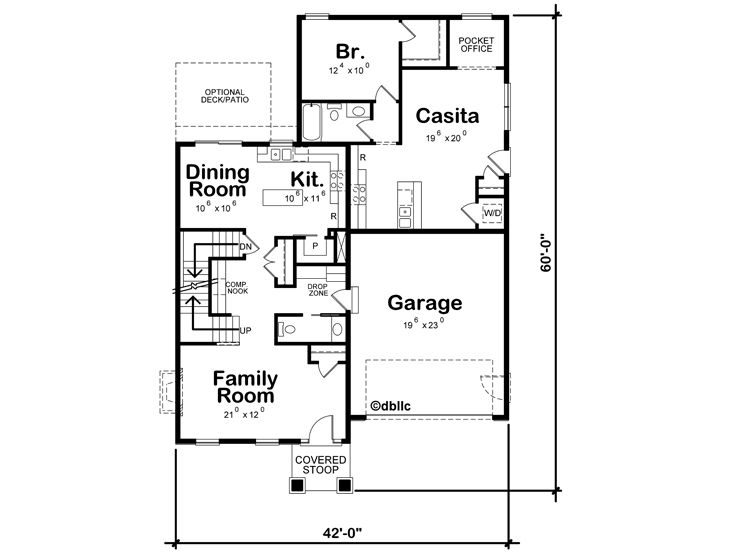 1st Floor Plan, 031H-0412
