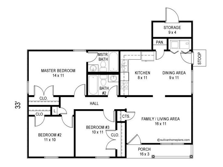 Small house plans traditional small ranch home plan Shop house floor plans