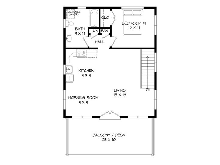 2nd Floor Plan, 062G-0100