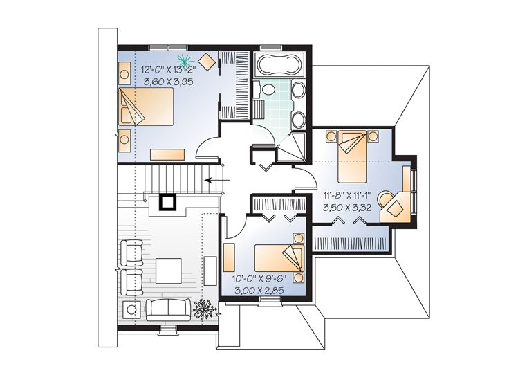 2nd Floor Plan, 027H-0163