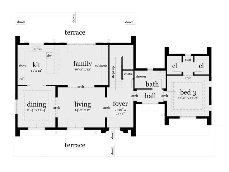 1st Floor Plan, 052H-0047