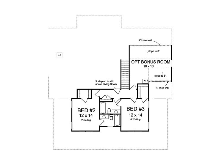 2nd Floor Plan, 059H-0206