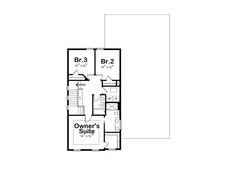 2nd Floor Plan, 031H-0412