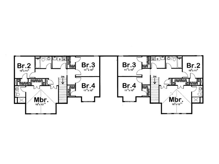 2nd Floor Plan, 050M-0005