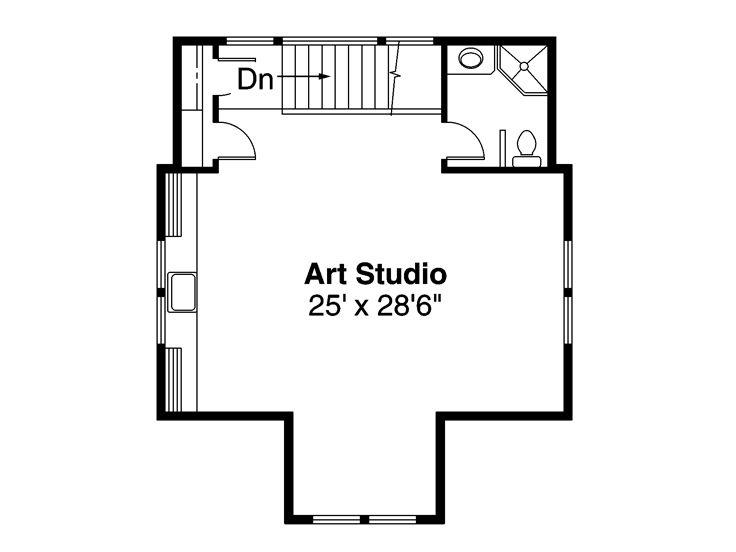 Garage apartment plans two car garage apartment plan for Garage studio plans
