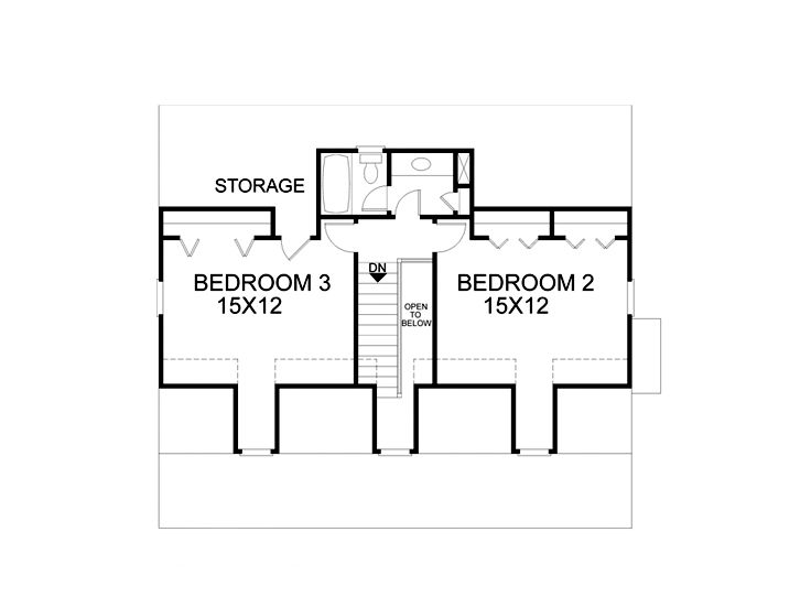 2nd Floor Plan, 007H-0025