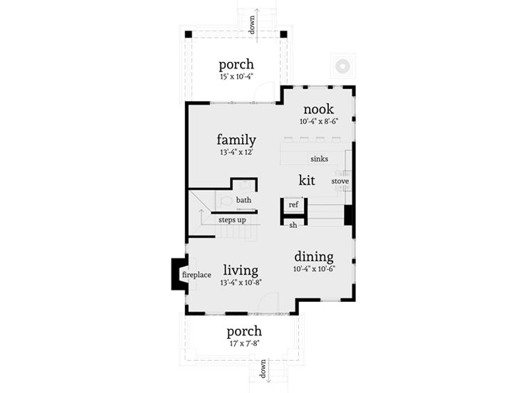 1st Floor Plan, 052H-0048