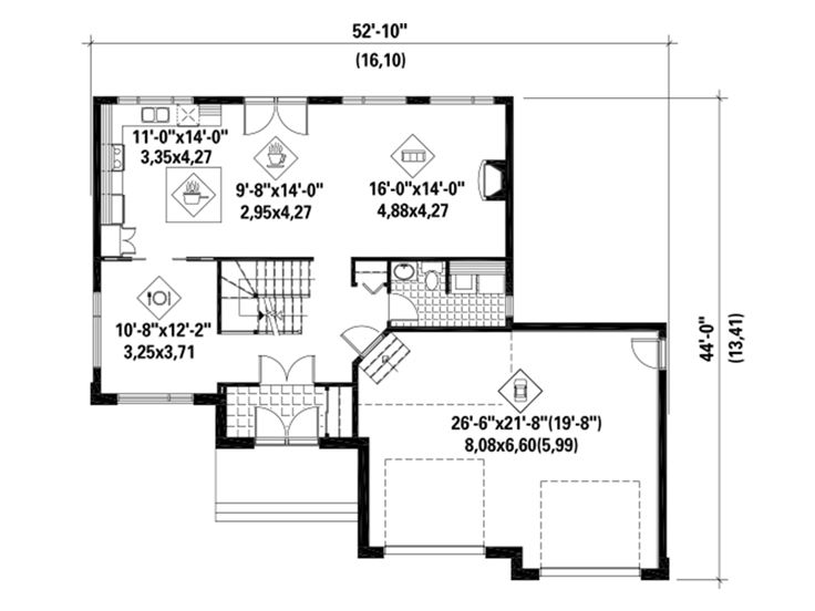 1st Floor Plan, 072H-0163