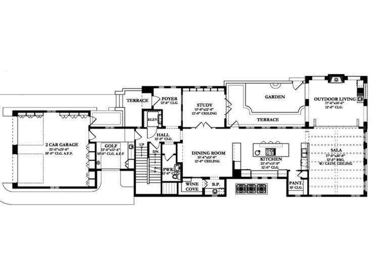 1st Floor Plan, 064H-0092