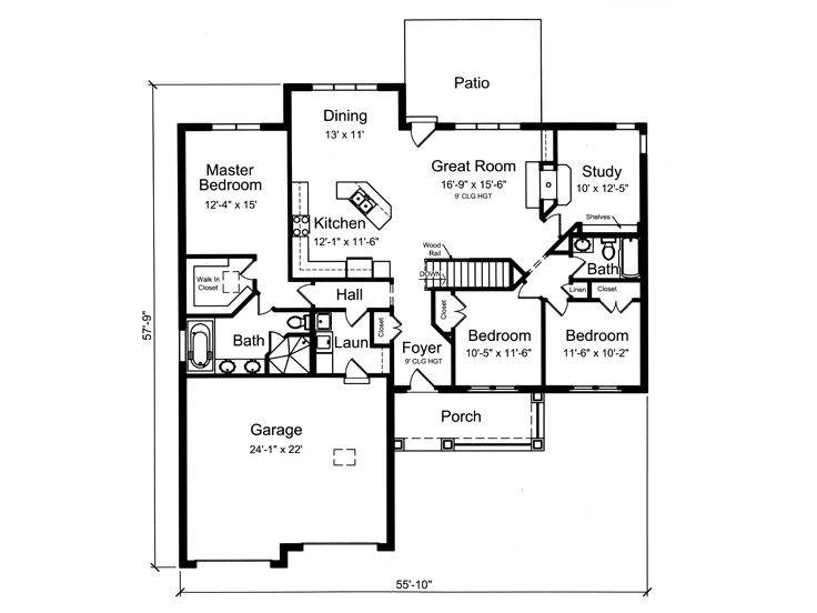 Plan 046h 0107 find unique house plans home plans and for House plans with attached shop
