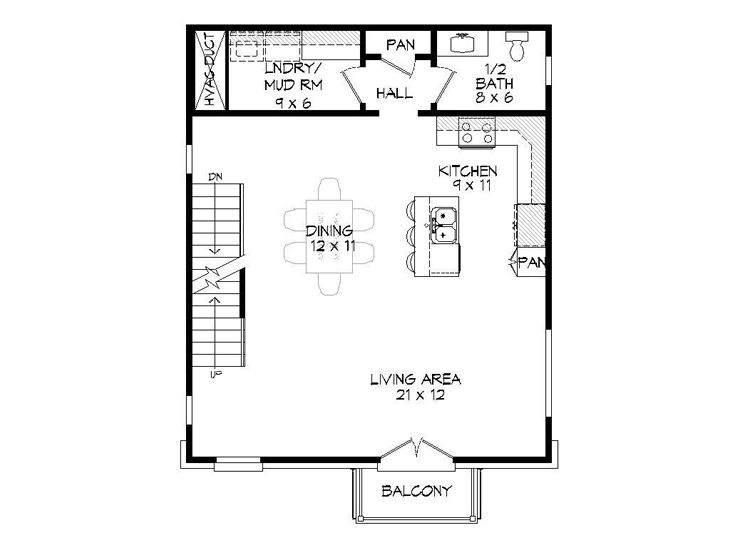 1st Floor Plan, 062G-0135