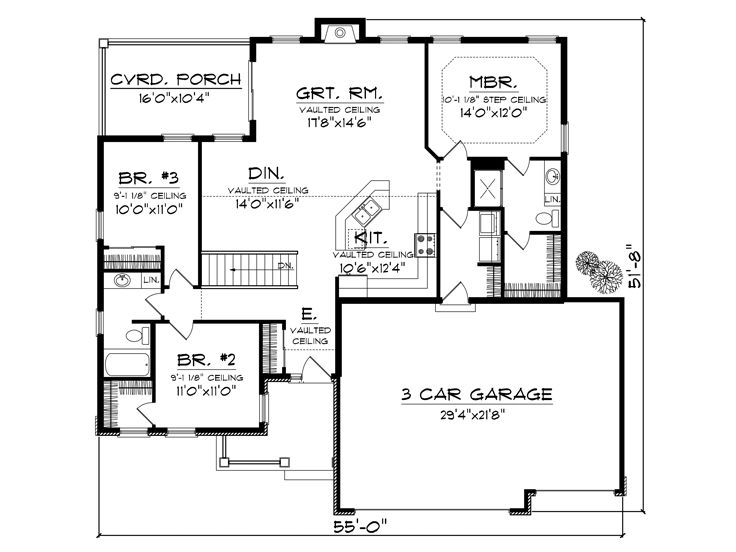 Affordable Ranch House Plans Home Plan Homepw76532 1501