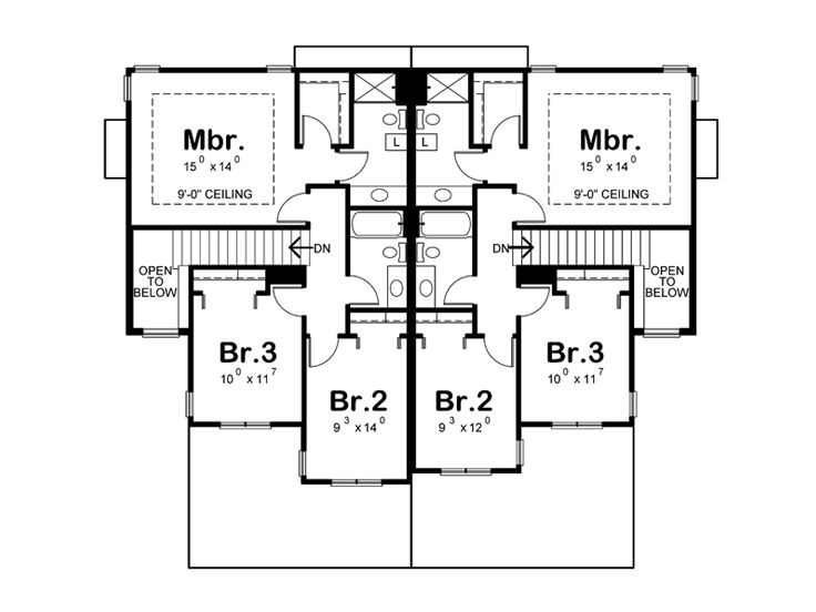 2nd Floor Plan, 031M-0082
