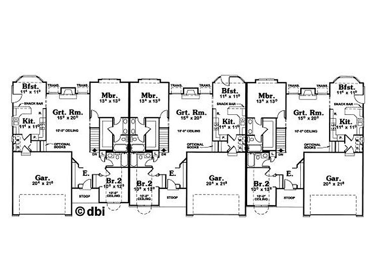 Plan 031m 0012 find unique house plans home plans and for Triplex floor plans
