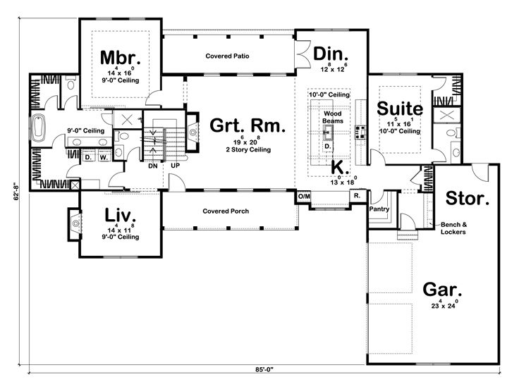 1st Floor Plan, 050H-0136