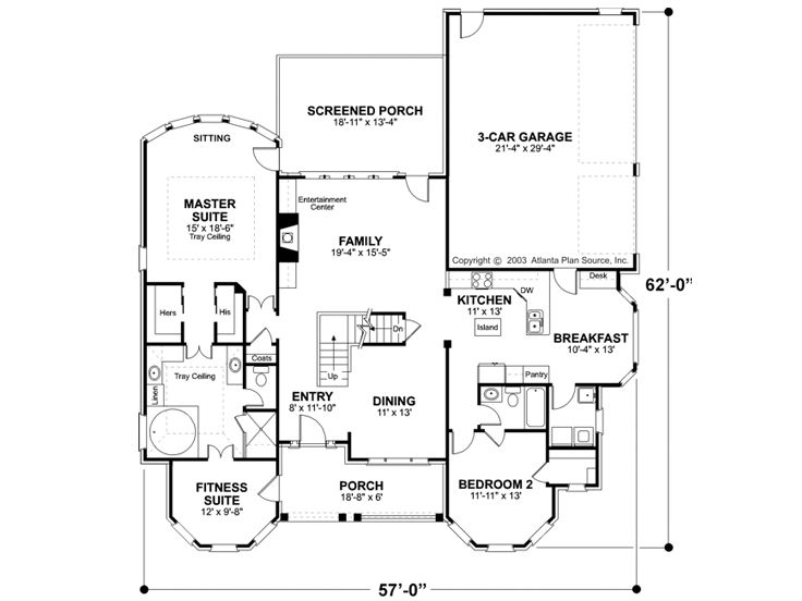 1st Floor Plan, 007H-0070