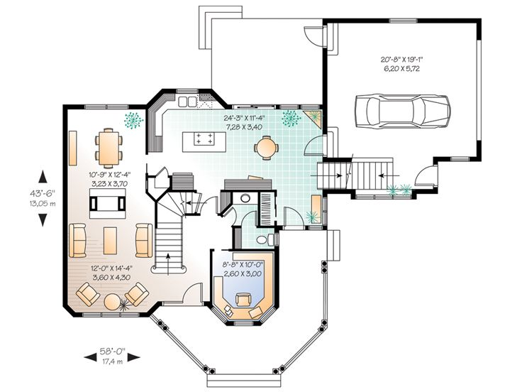 1st Floor Plan, 027H-0059