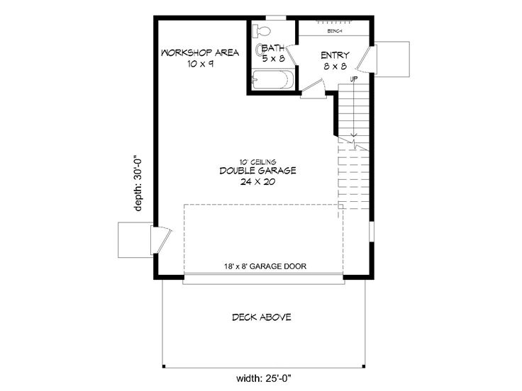 1st Floor Plan, 062G-0100
