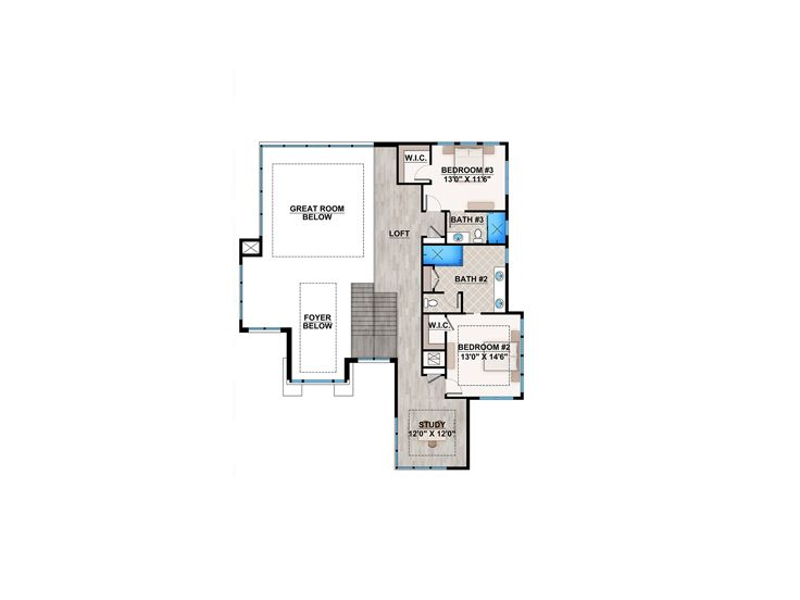 2nd Floor Plan, 069H-0027