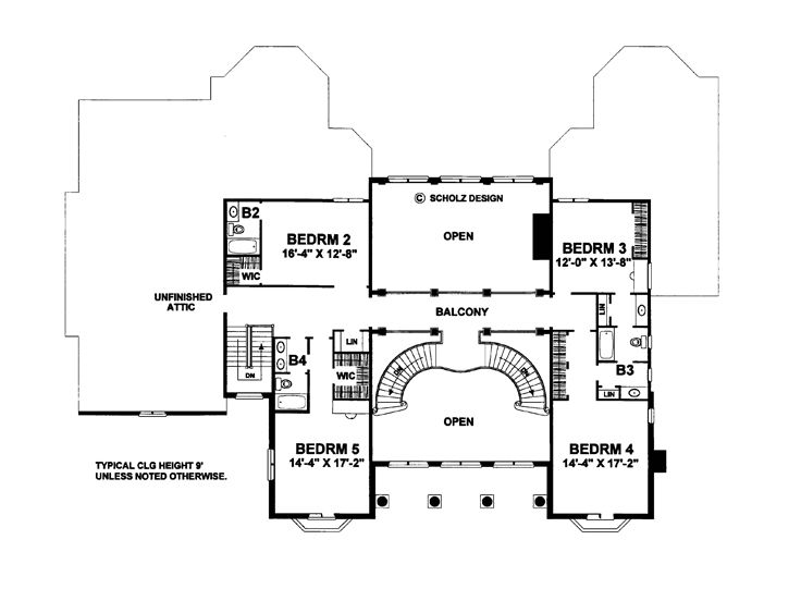 2nd Floor Plan, 031H-0337