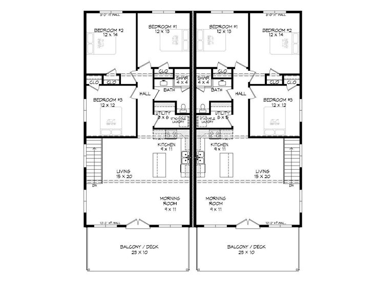 2nd Floor Plan, 062M-0003