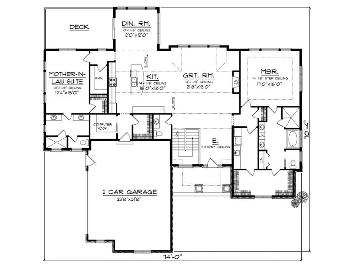 Empty Nester House Plans European Style Empty Nester