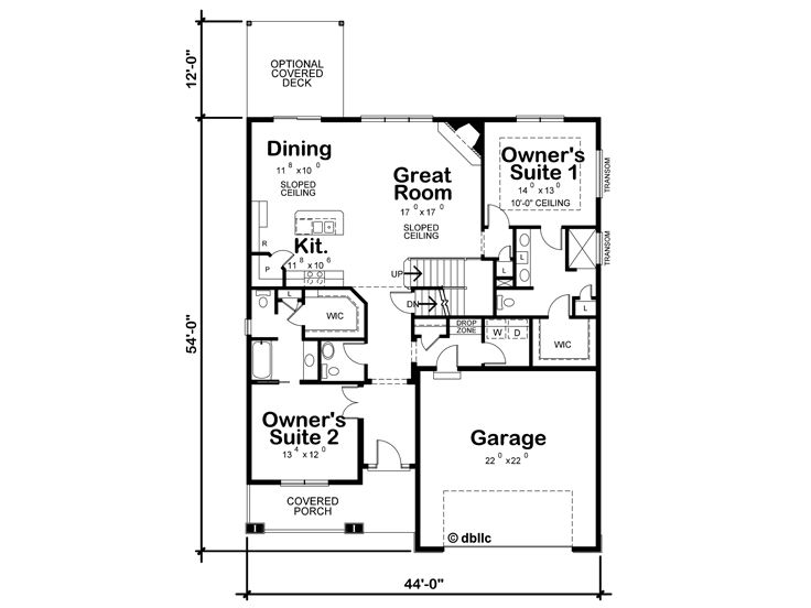 1st Floor Plan, 031H-0327