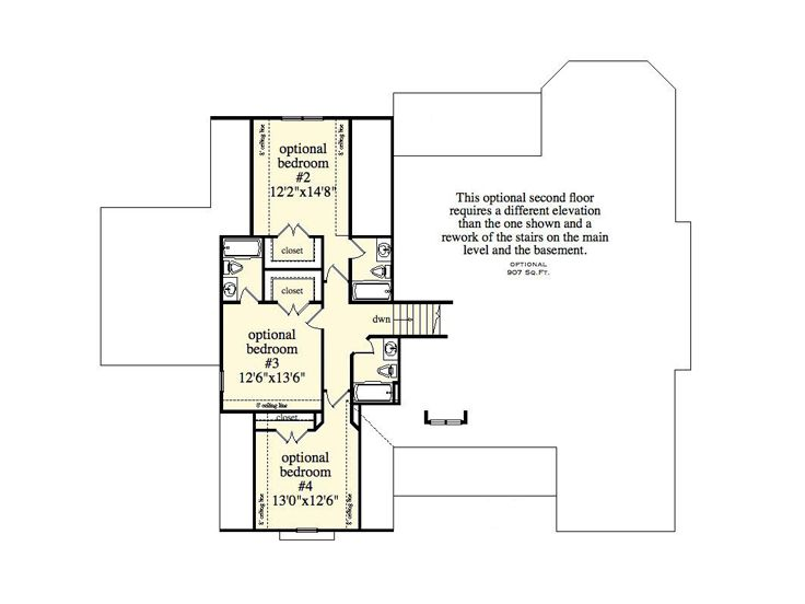 Opt 2nd Floor Plan