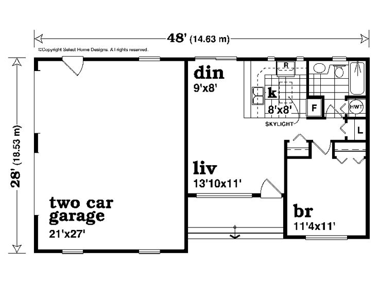Garage apartment plans one story garage apartment plan for One story apartments