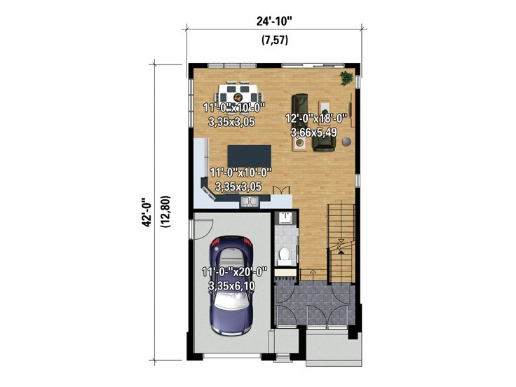 1st Floor Plan, 072H-0141