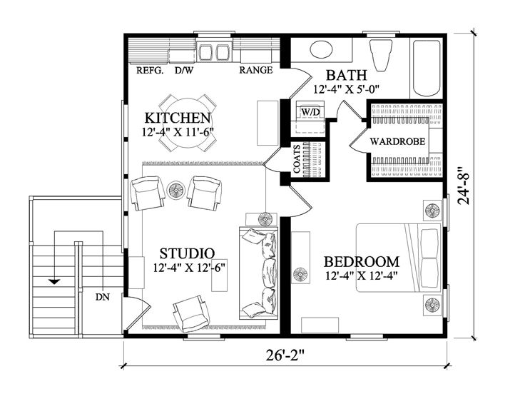 Garage Apartment Plans 2 Car Garage Apartment Plan