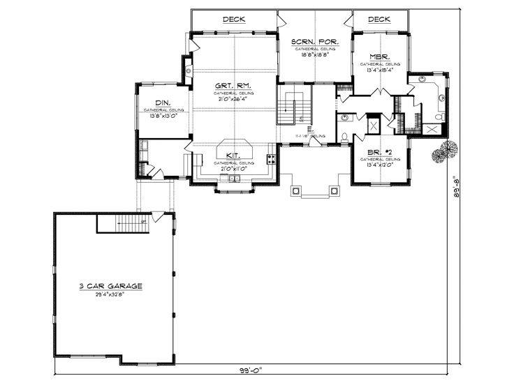 Small empty nester house plans for Empty nester home plans designs