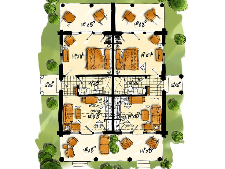 1st Floor Plan, 066M-0001