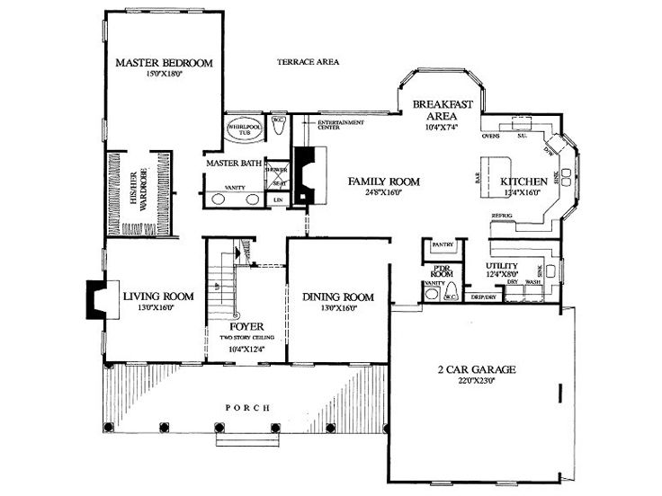 1st Floor Plan, 063H-0040