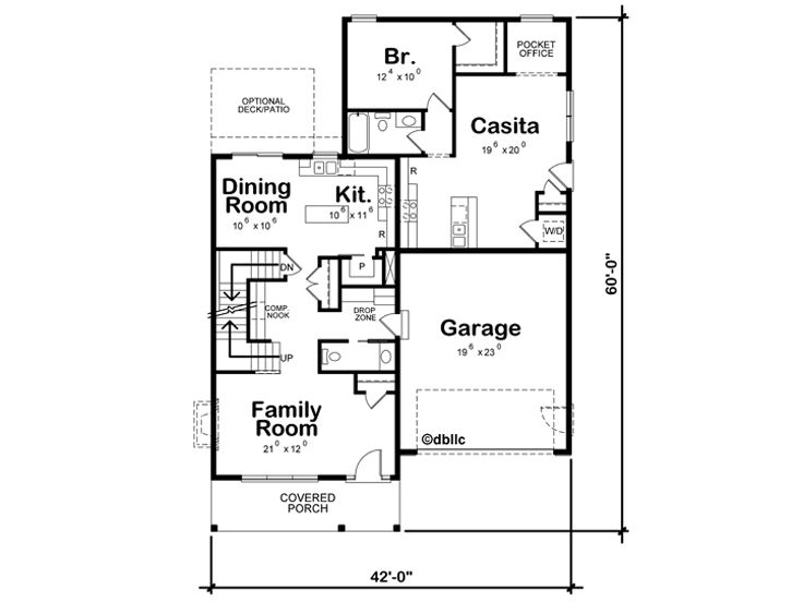 1st Floor Plan, 031H-0391
