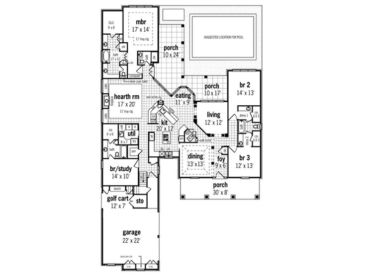 ranch home plans ranch house plan with open floor plan