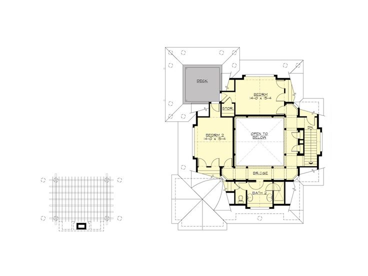 2nd Floor Plan, 035G-0018