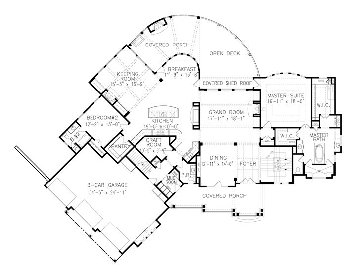 1st Floor Plan, 084H-0001